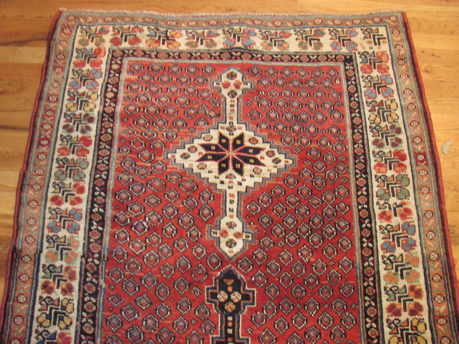 24711 antique Persian Luri runner 3,6x10,8 -1