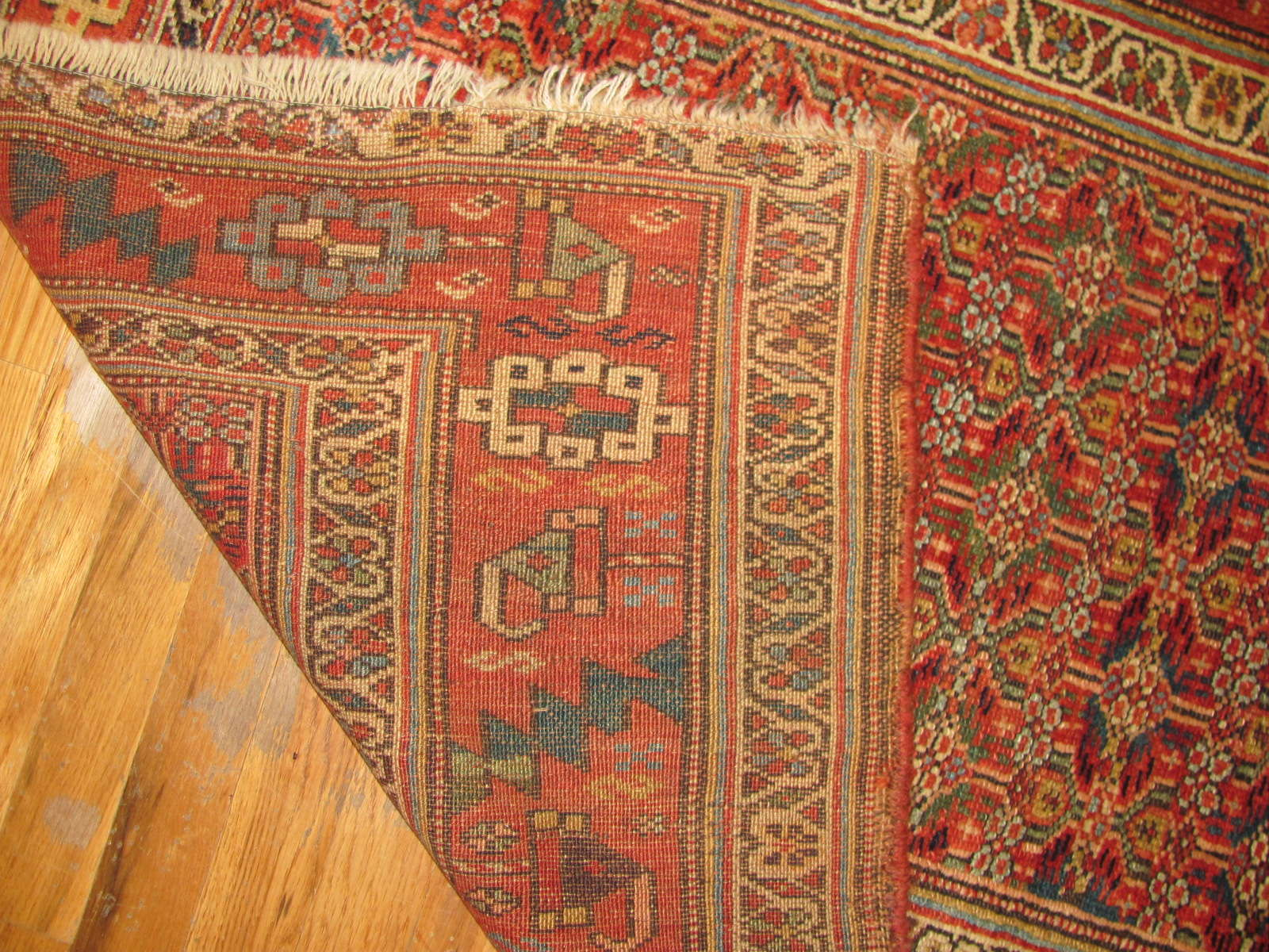 24721 antique persian kurd rug 3,8 x 6 -1