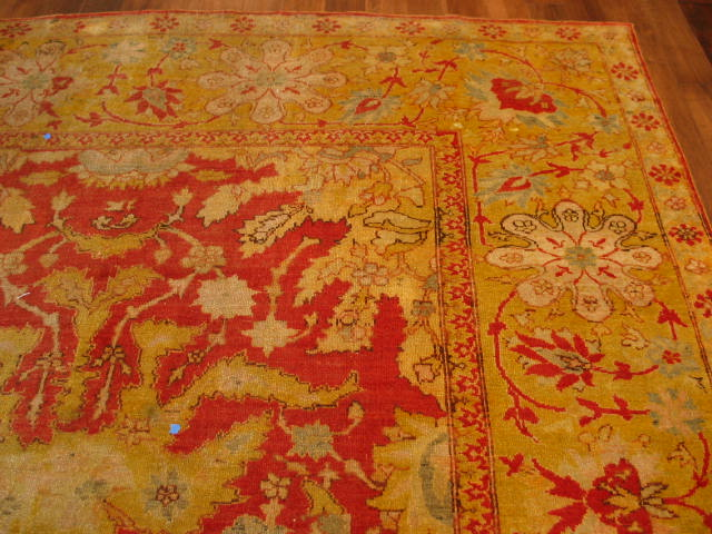 12693 antique anatolian oushak carpet 9,3 x 12,4 (3)