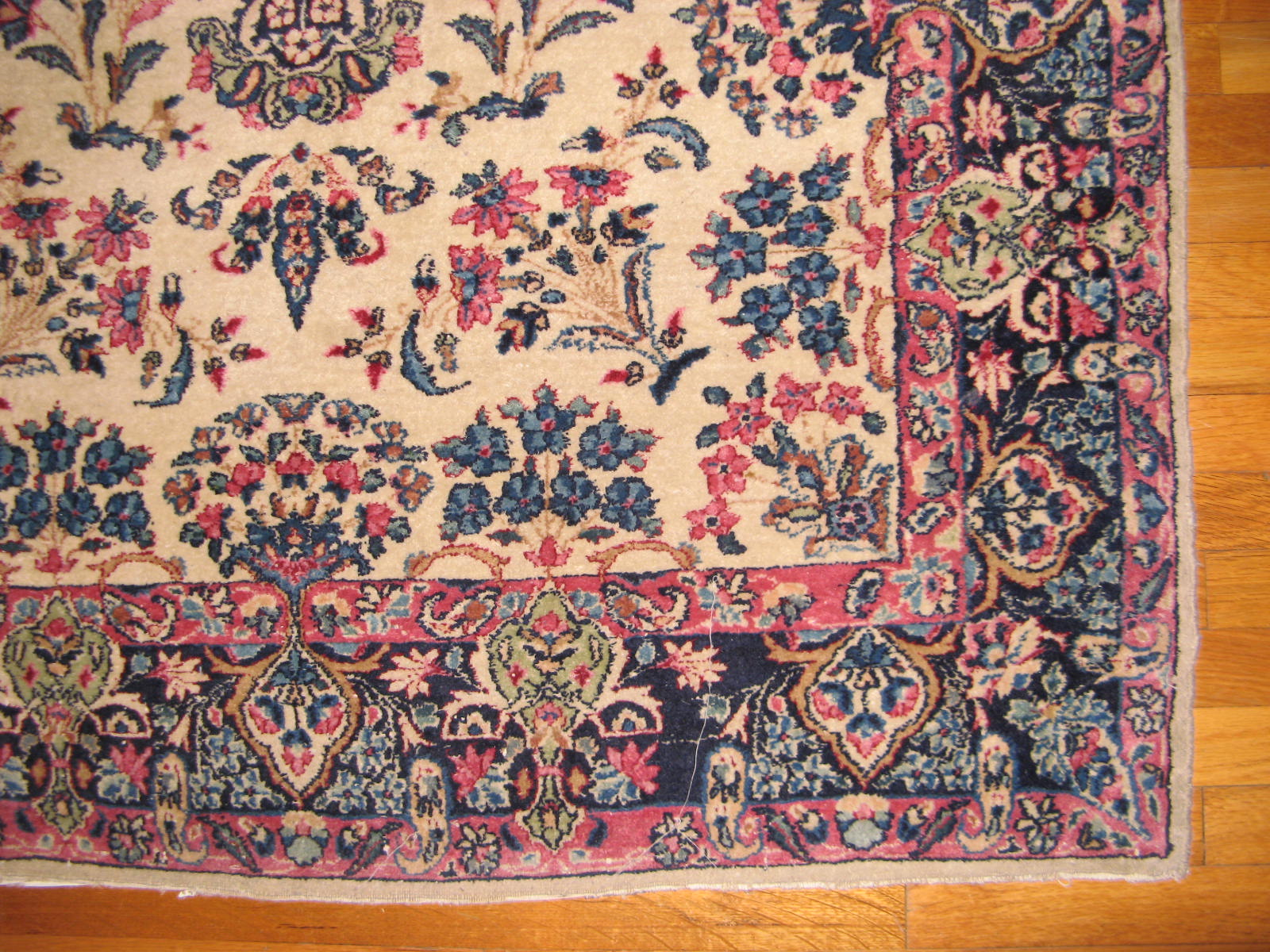 12848 semi antique persian kerman rug 3,10 x 6,4 (2)