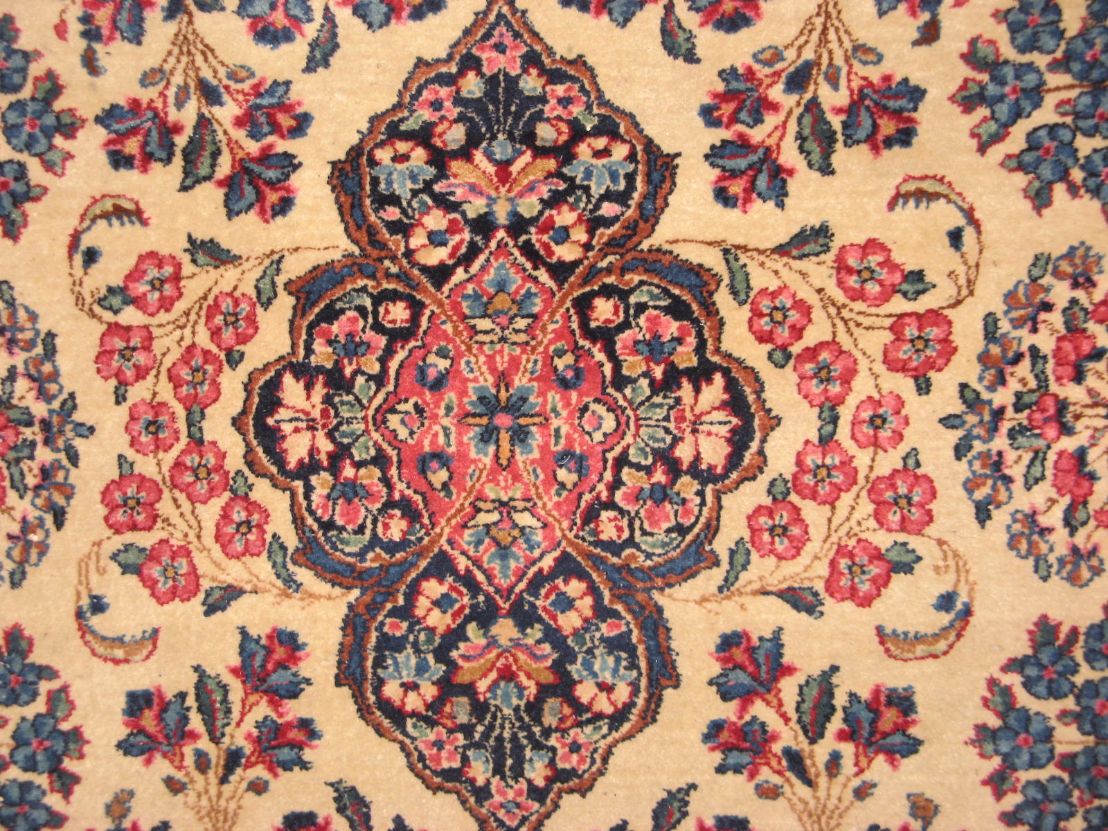 12848 semi antique persian kerman rug 3,10 x 6,4 (3)