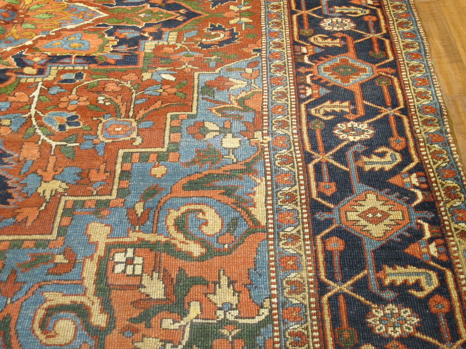 21425 Semi Antique Persian Heriz 7'10x10' (1)