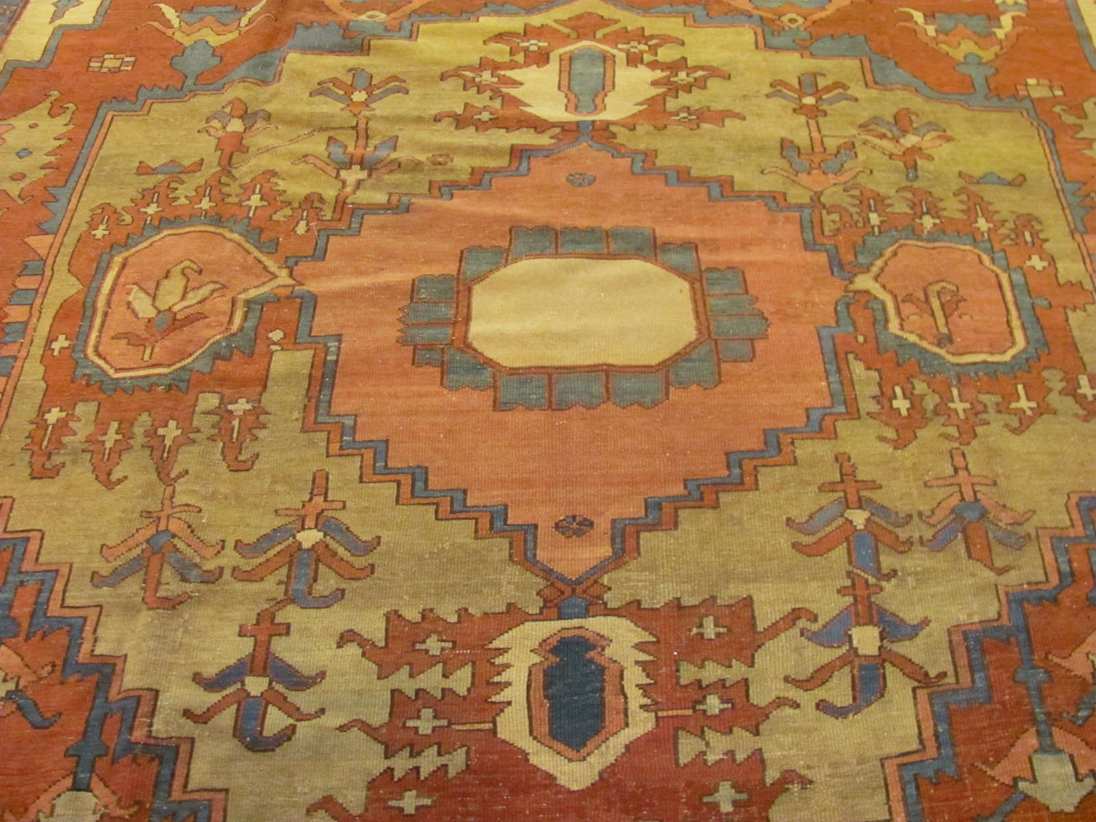 24251 antique persian serapi carpet 9,10x12,7 -2