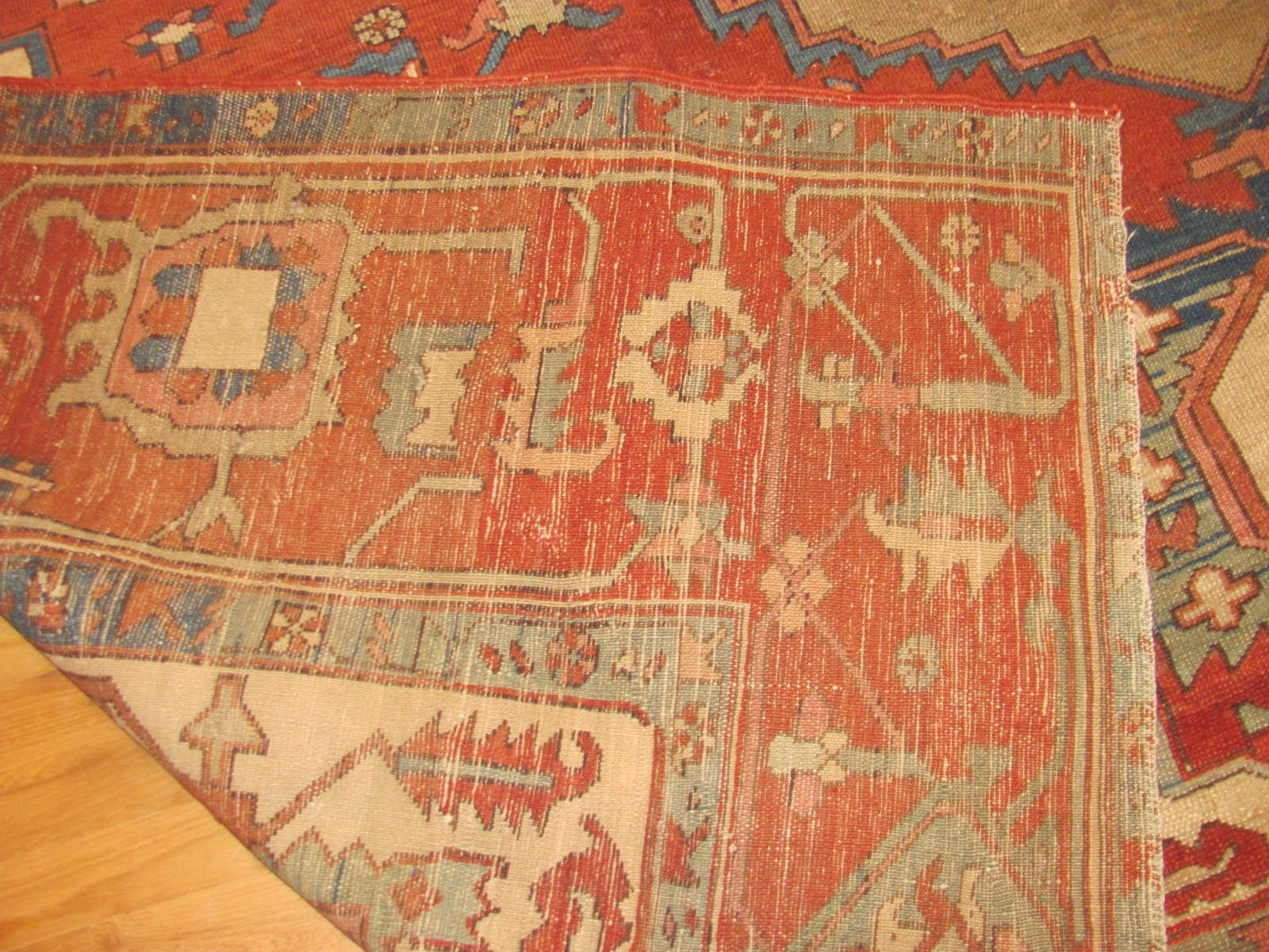 24251 antique persian serapi carpet 9,10x12,7 -3