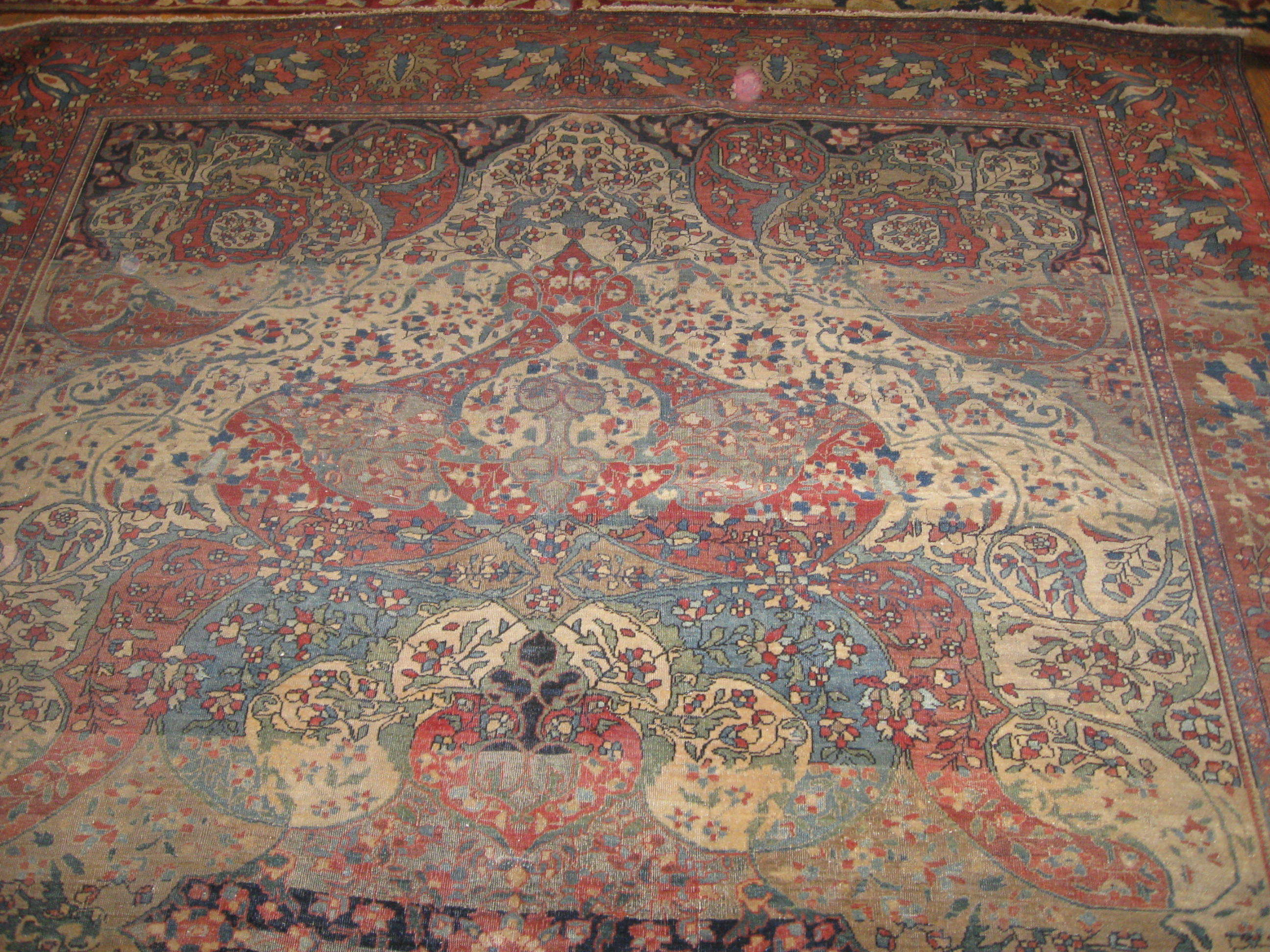 24452 Antique Persian Sarouk Ferahan rug 7x10 -1