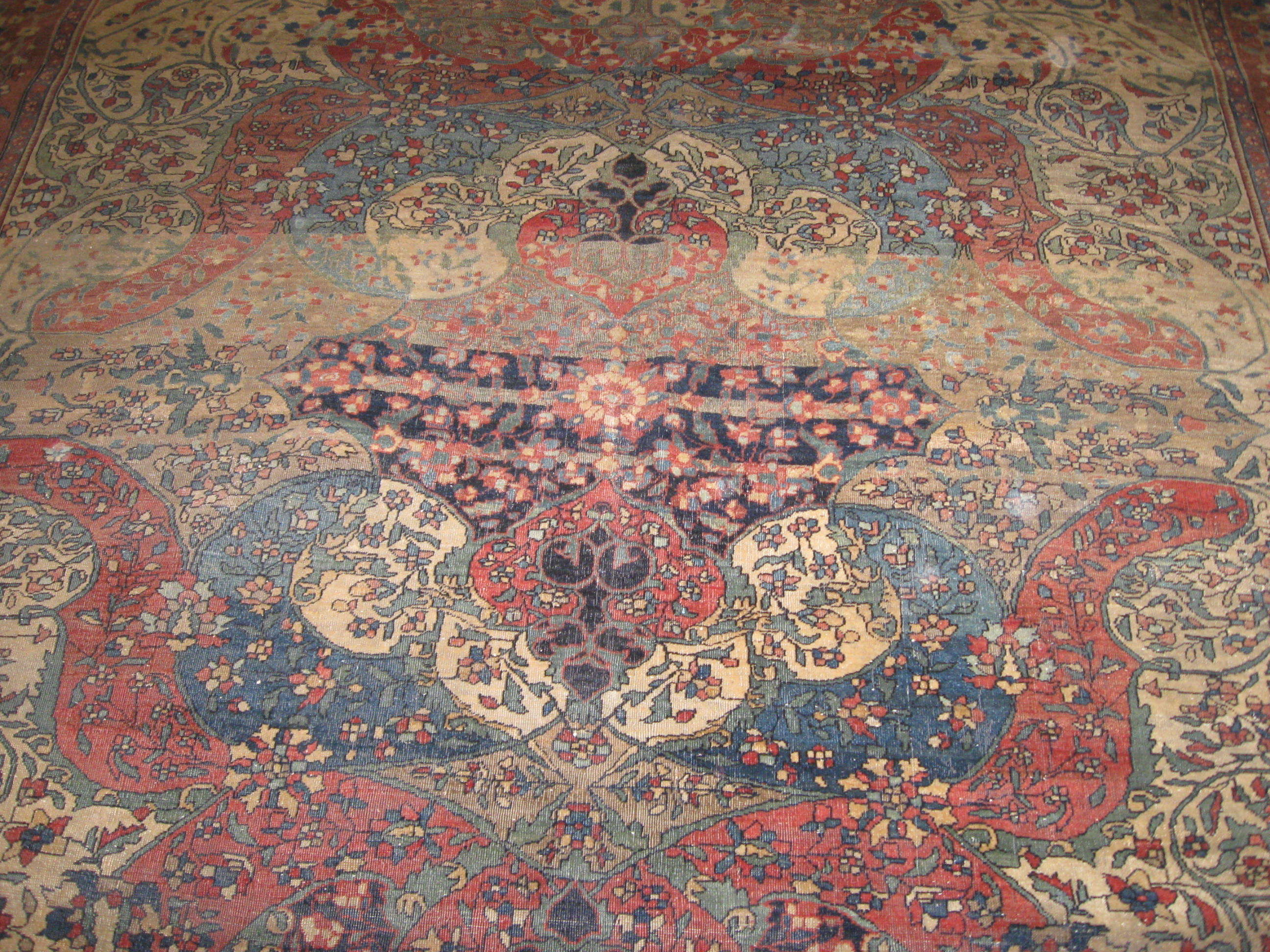 24452 Antique Persian Sarouk Ferahan rug 7x10 -2