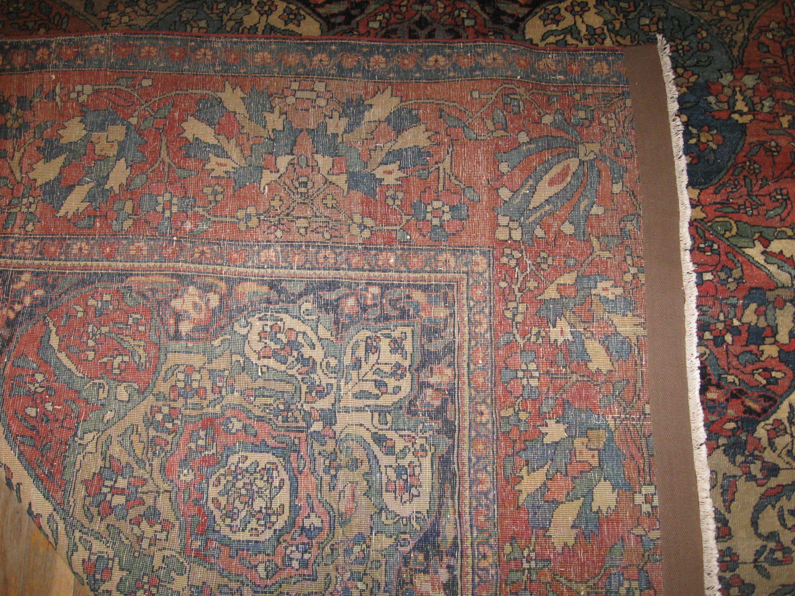 24452 Antique Persian Sarouk Ferahan rug 7x10 -3