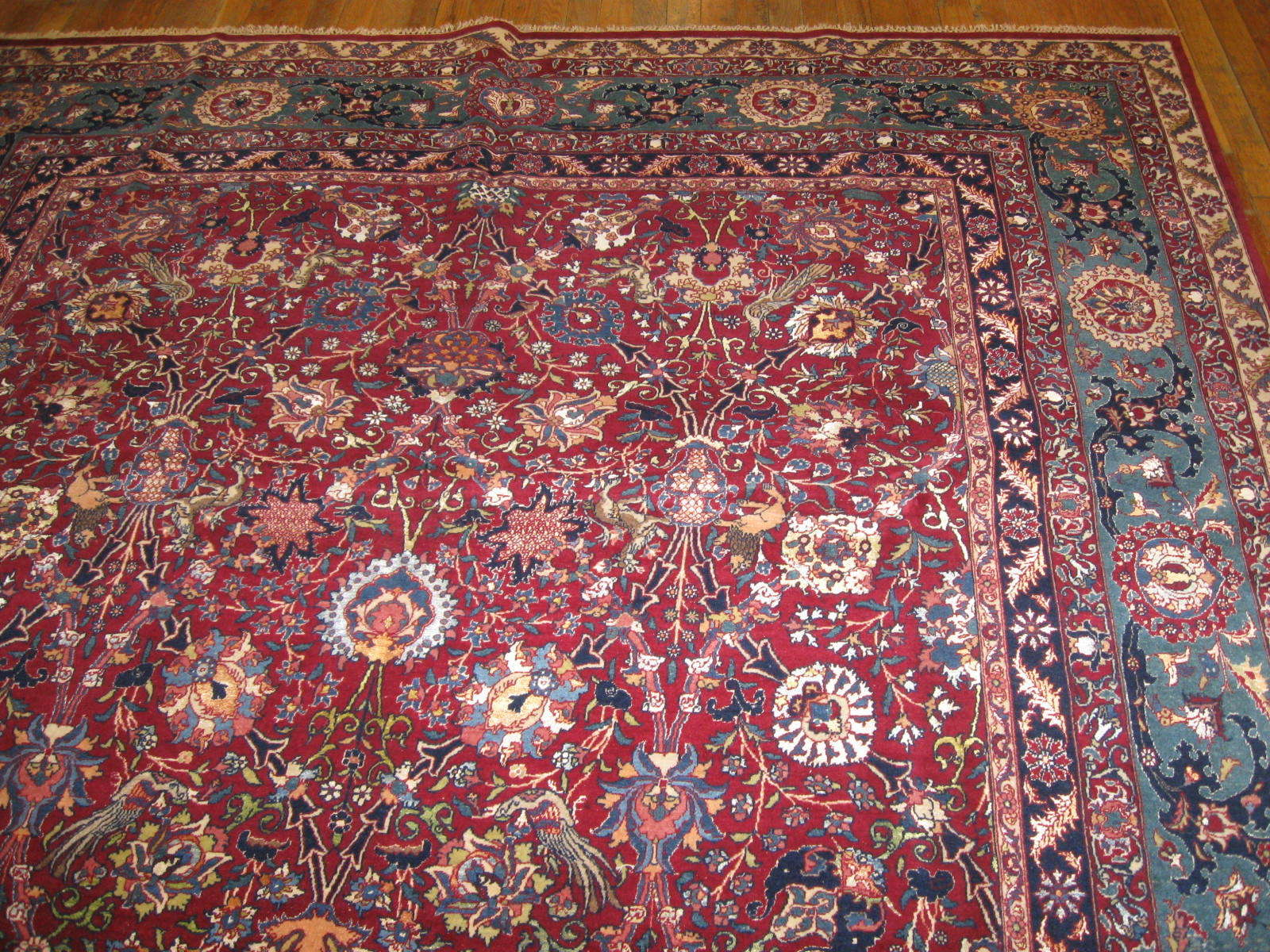24453 antique Persian Tehran rug 7,2x10,2 -1