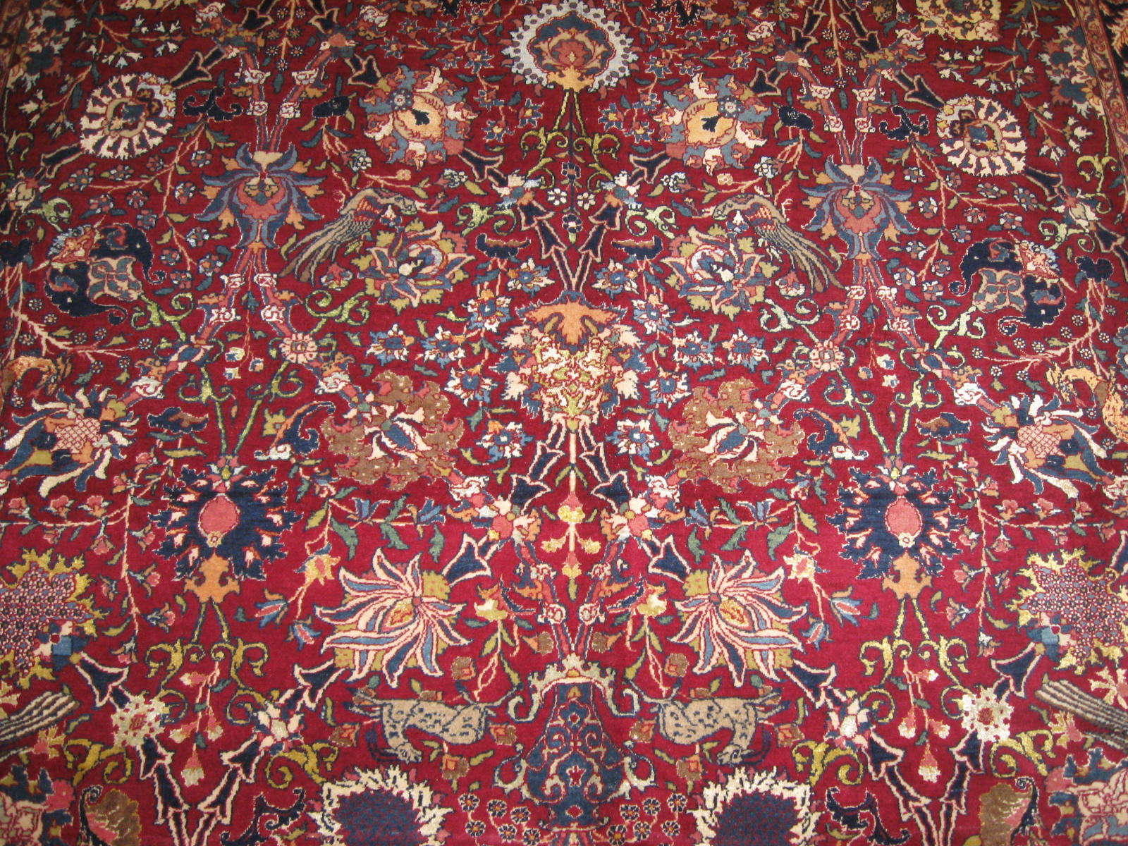 24453 antique Persian Tehran rug 7,2x10,2 -2