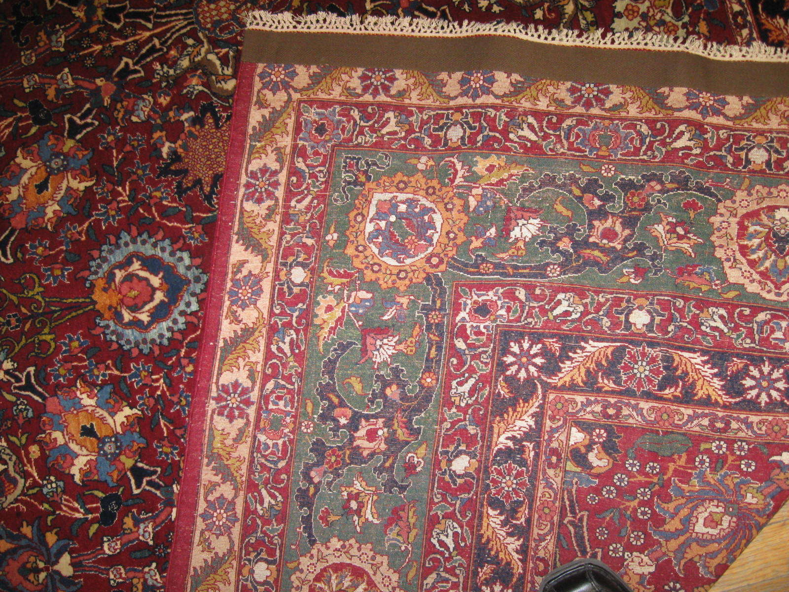 24453 antique Persian Tehran rug 7,2x10,2 -3
