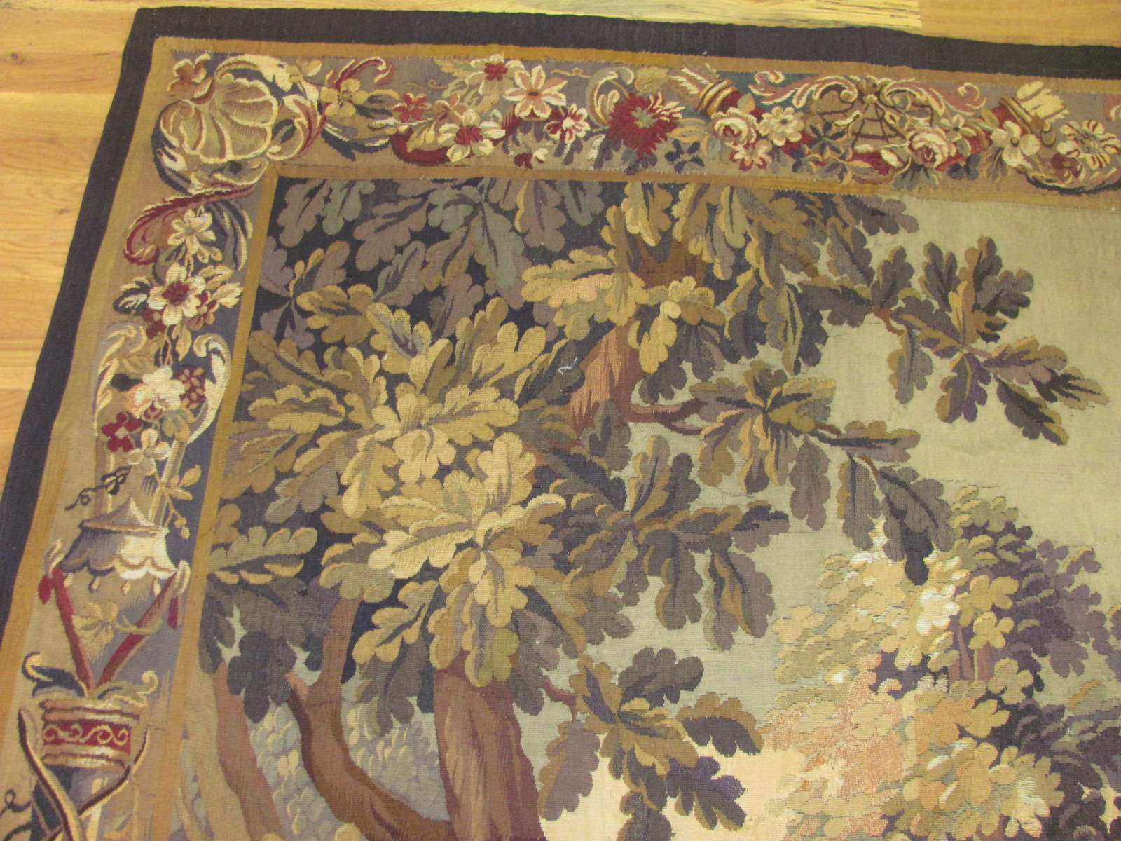 24555 antique french tapestry 5,2 x 7,3 -2