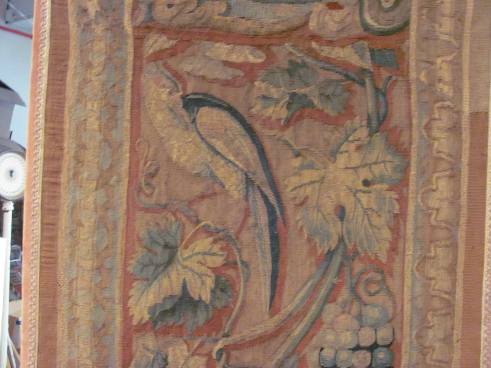 24557 antique Continental tapestry 7,3x7,4 -3