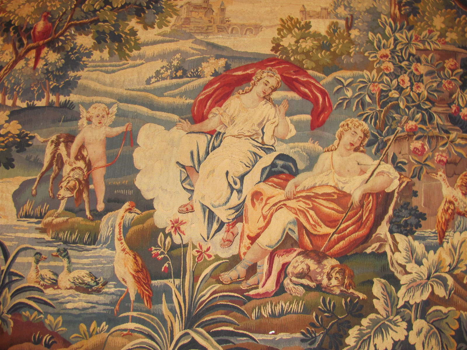 24655 antique French tapestry 7,1 x 5,9 -1