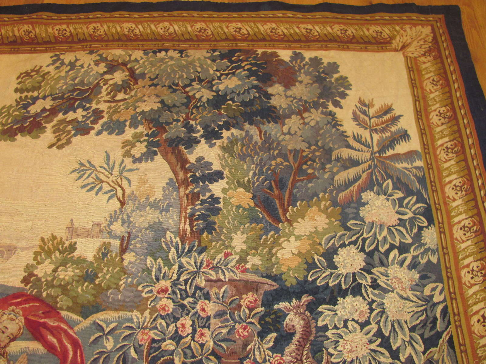 24655 antique French tapestry 7,1 x 5,9 -2