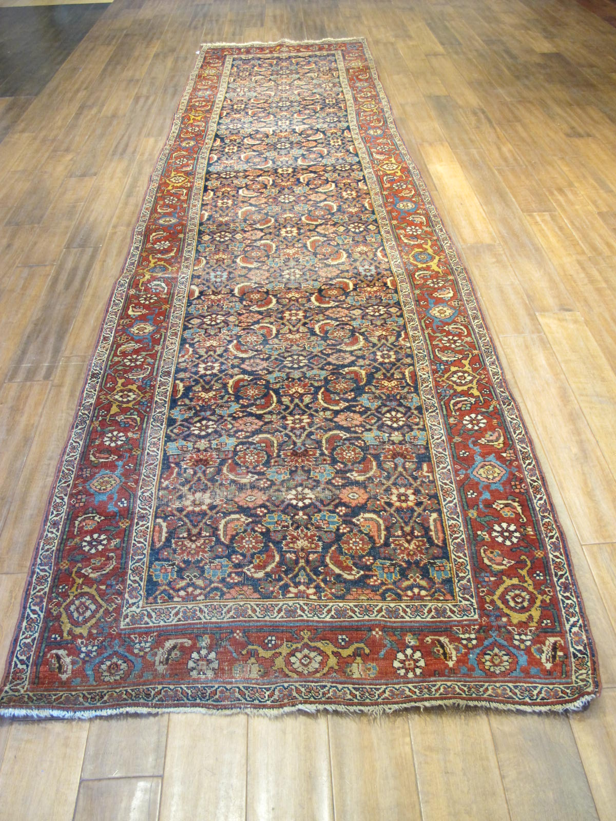 13078 antique persian bidjar runner 3,6x13,4 (2)