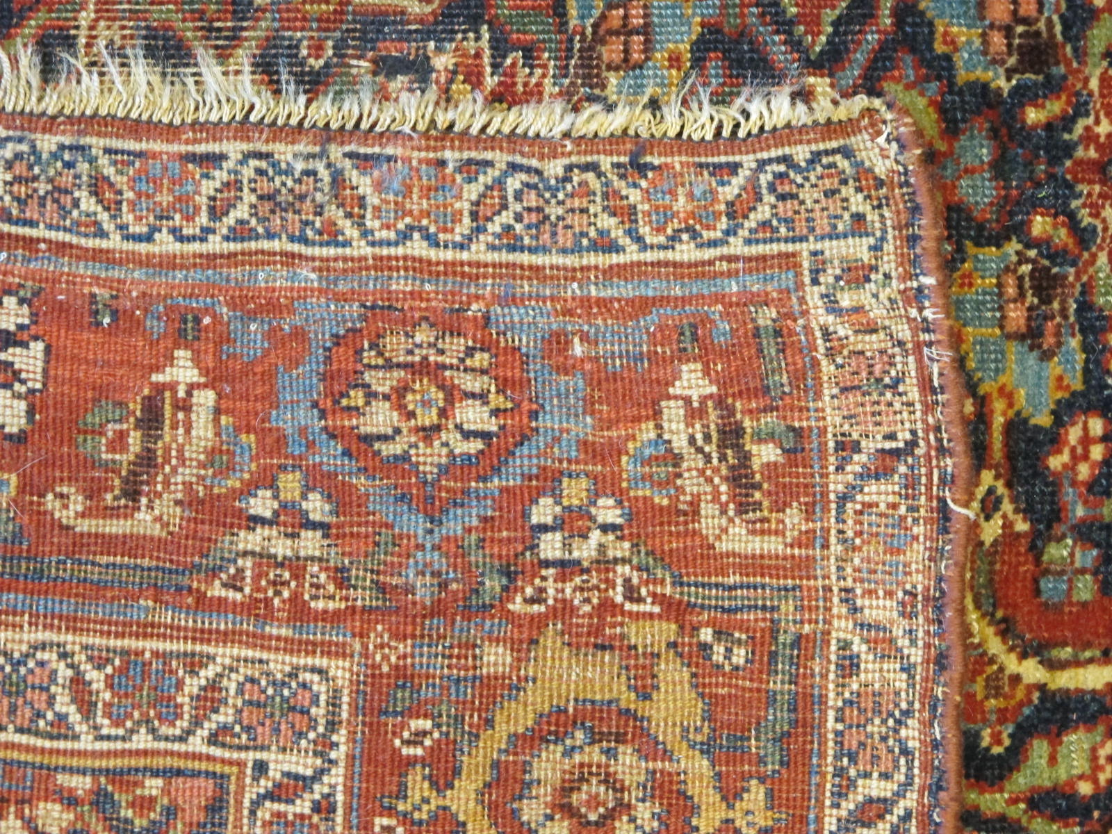 13078 antique persian bidjar runner 3,6x13,4 (5)