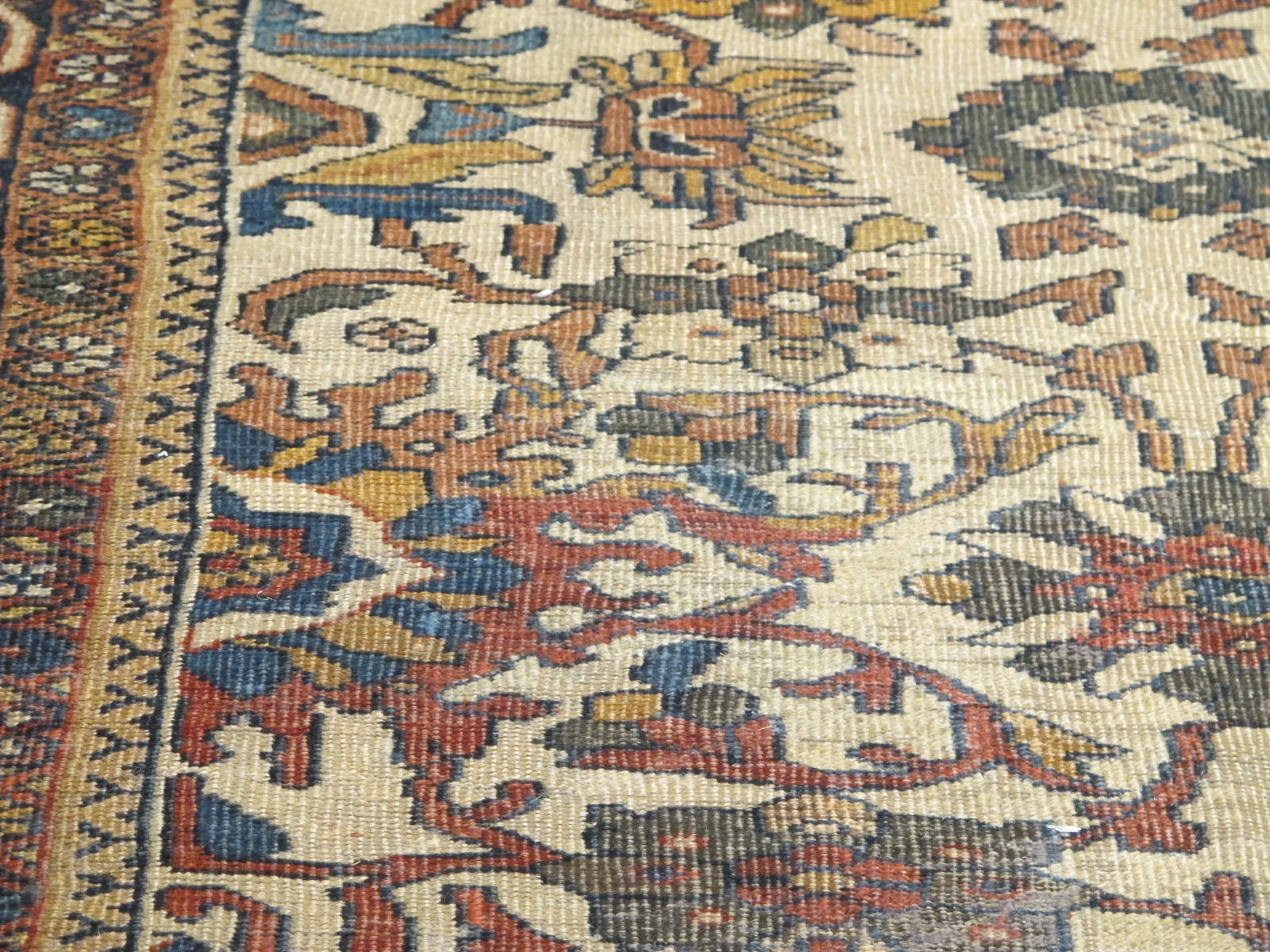 21432 antique persian mahal rug 8,9x12,4 (5)