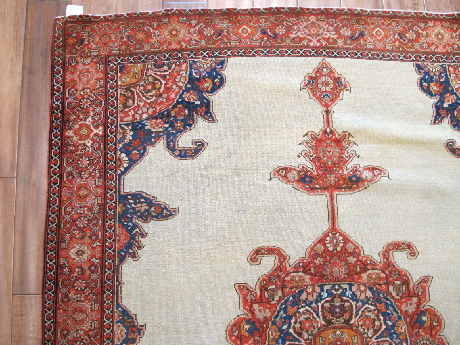 23020 antique malayer mishan rug 5 x 6,6 (2)