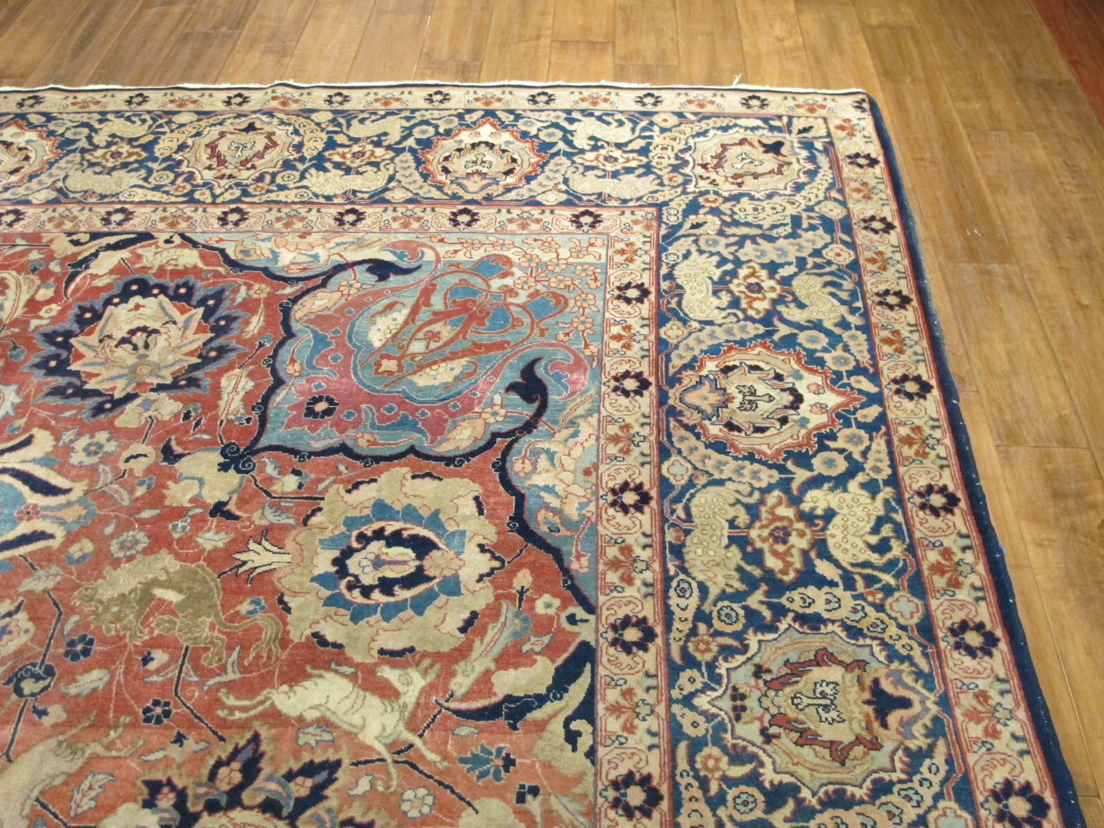 21100 Persian Tabriz carpet 10,3 x 14 (4)