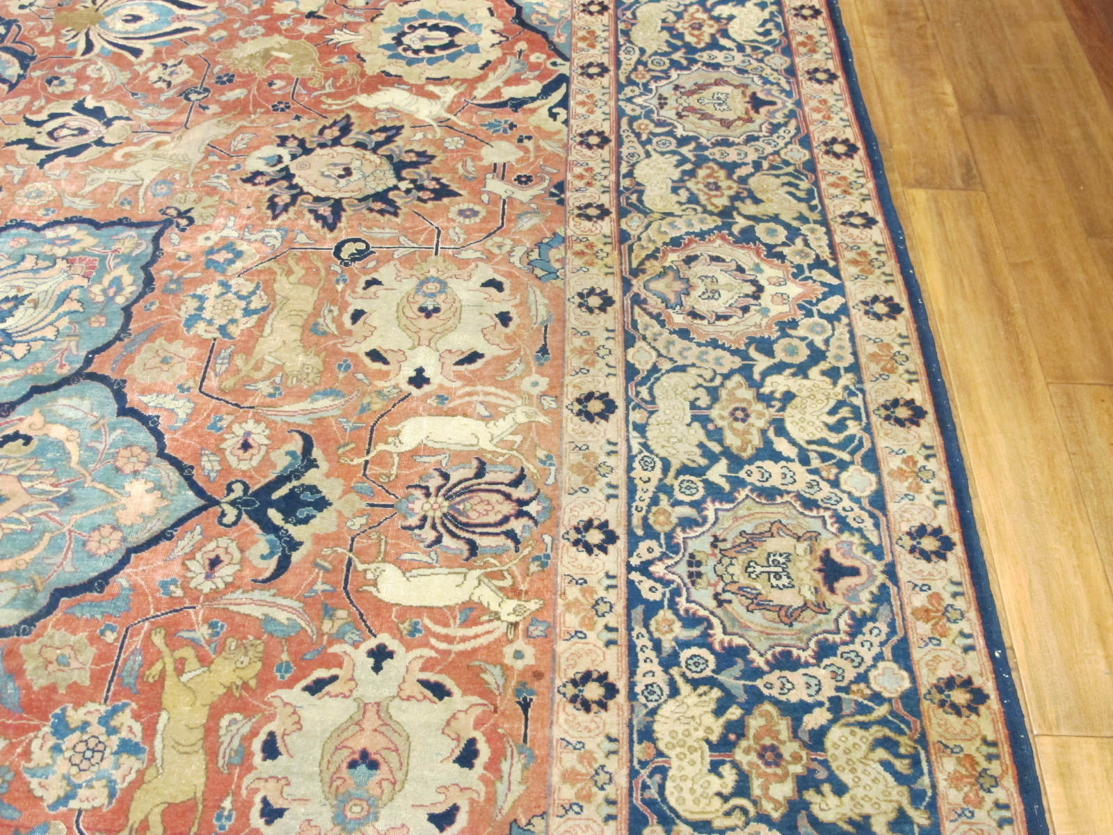 21100 Persian Tabriz carpet 10,3 x 14 (5)