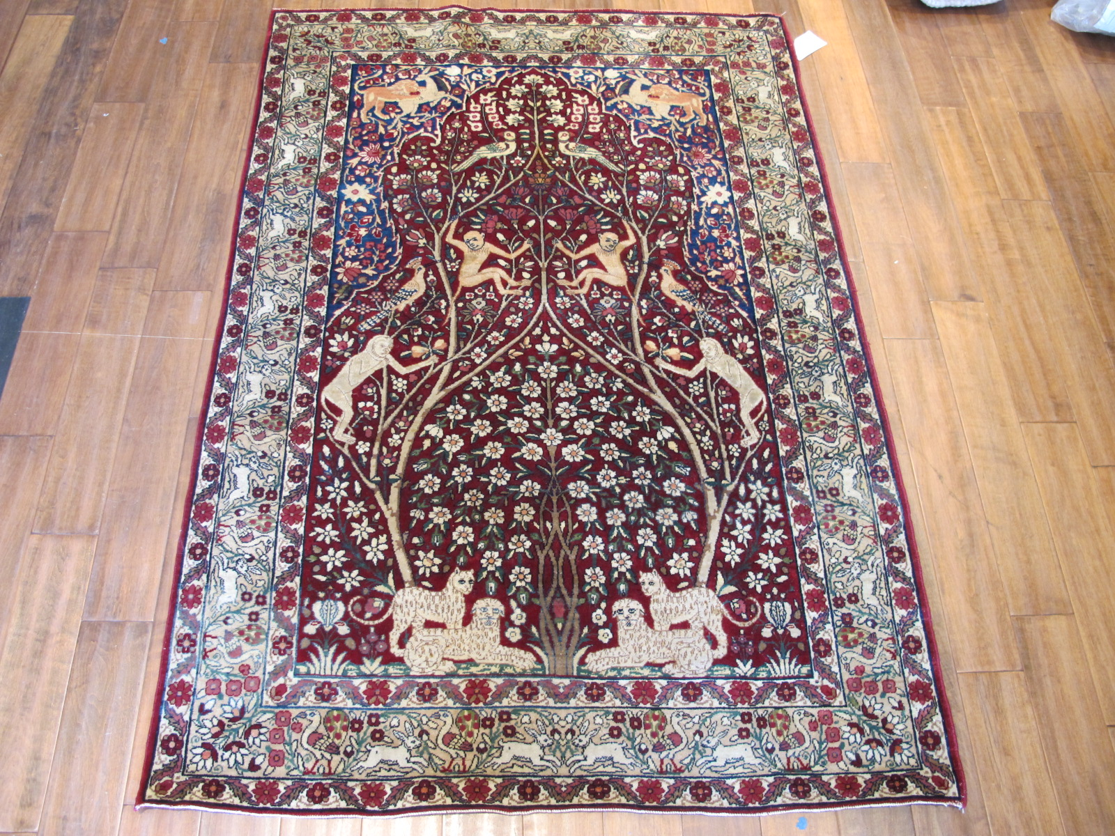 Antique Kirman Lavar Carpet | Persia | 1910