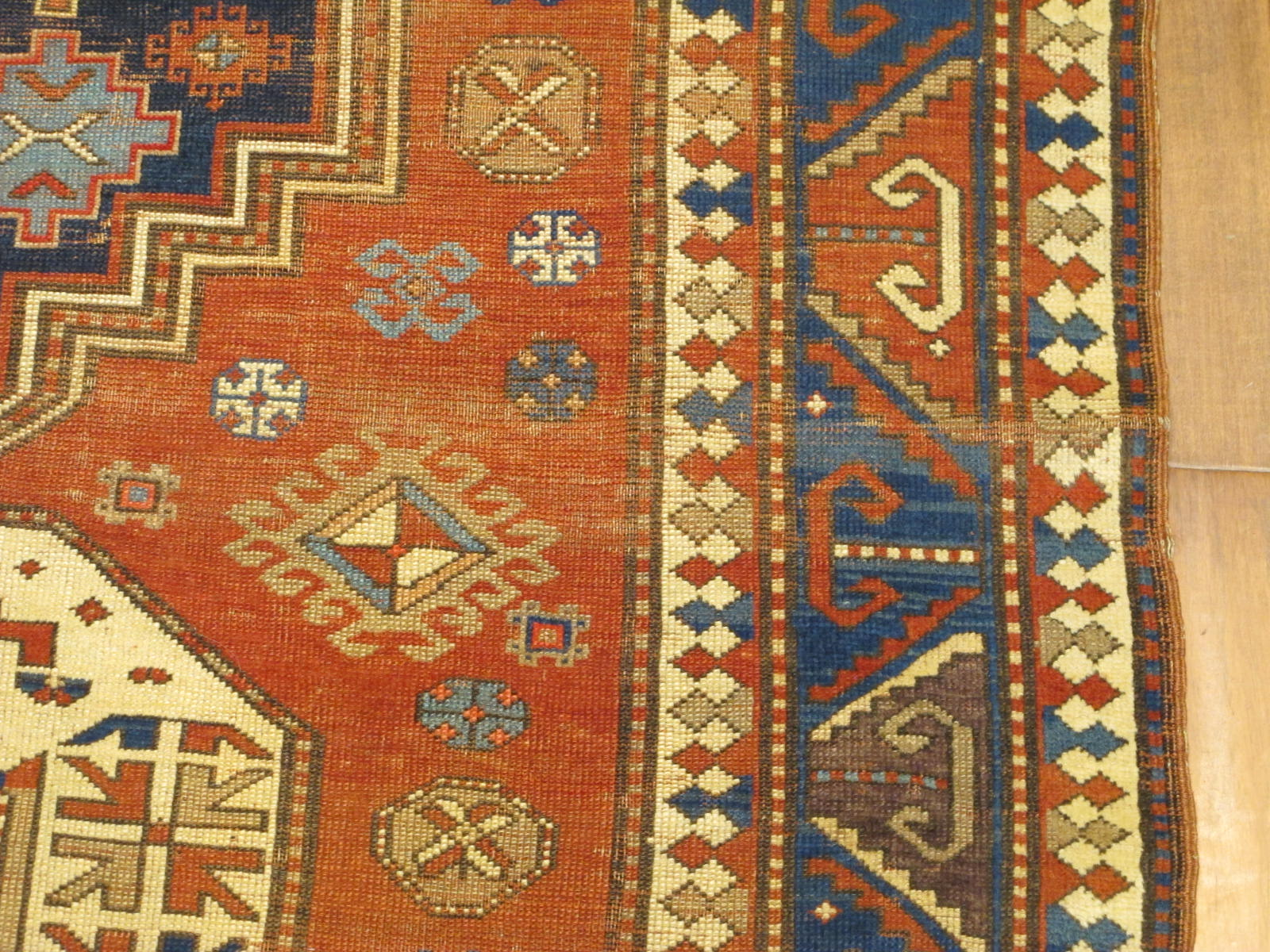 23087 antique caucasus kazak rug 5,2x7,4 (4)