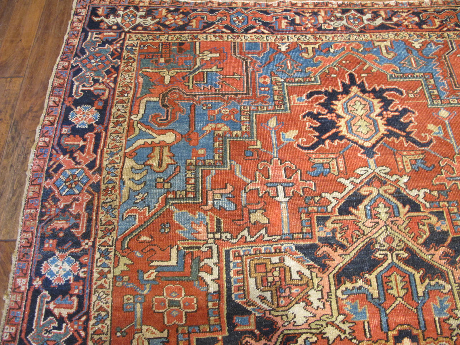 23108 antique persian Heriz rug 7 x 8.10 (2)