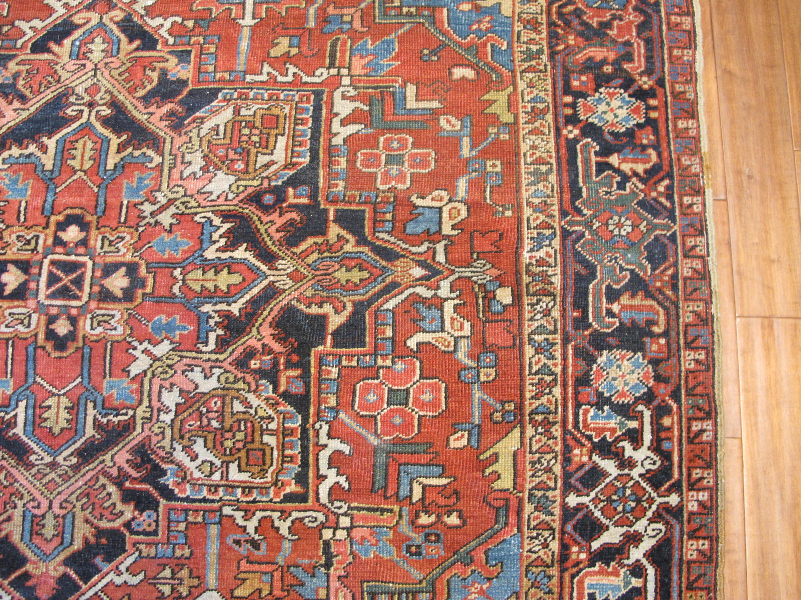 23108 antique persian Heriz rug 7 x 8.10 (3)