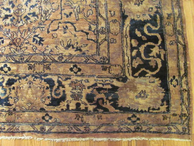 24730 antique indo tabriz rug 7,9x11-2