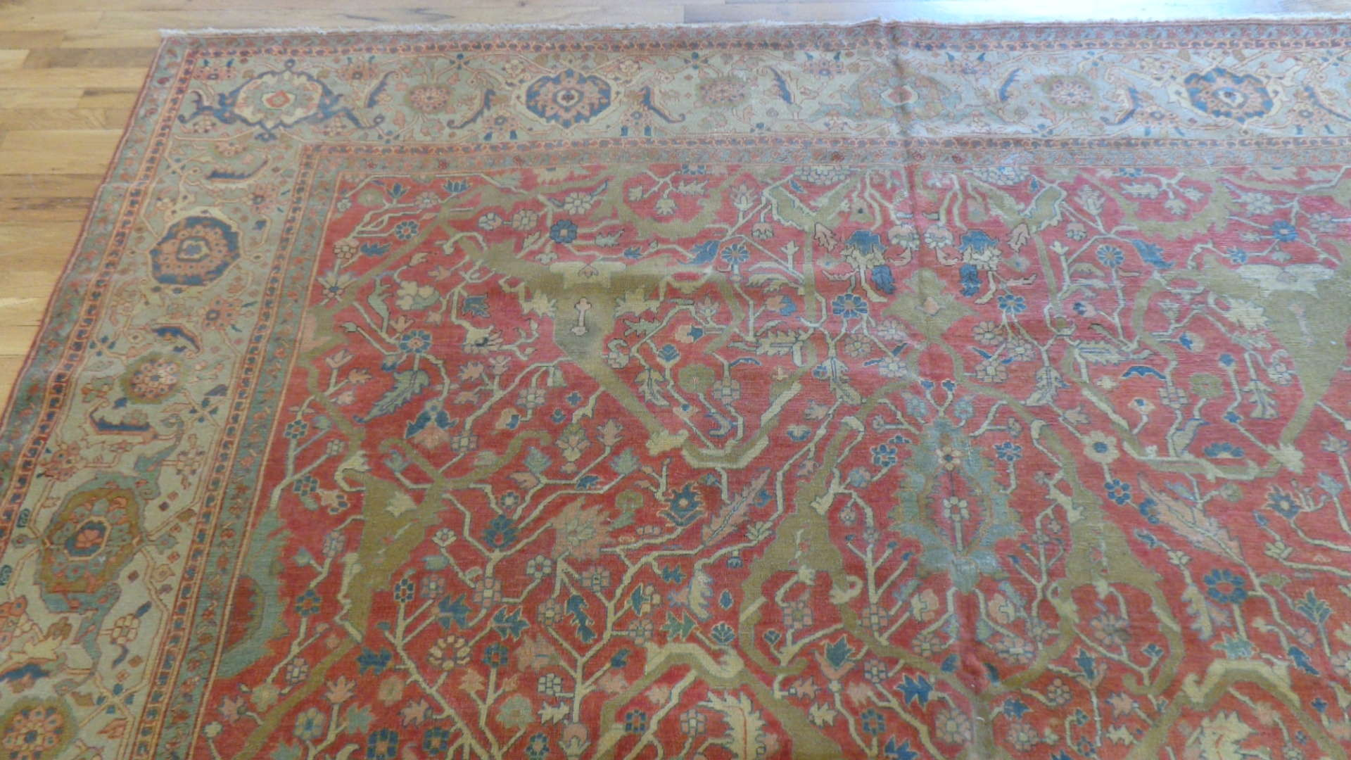 24745 antique persian serapi carpet 9.8x11.4-1