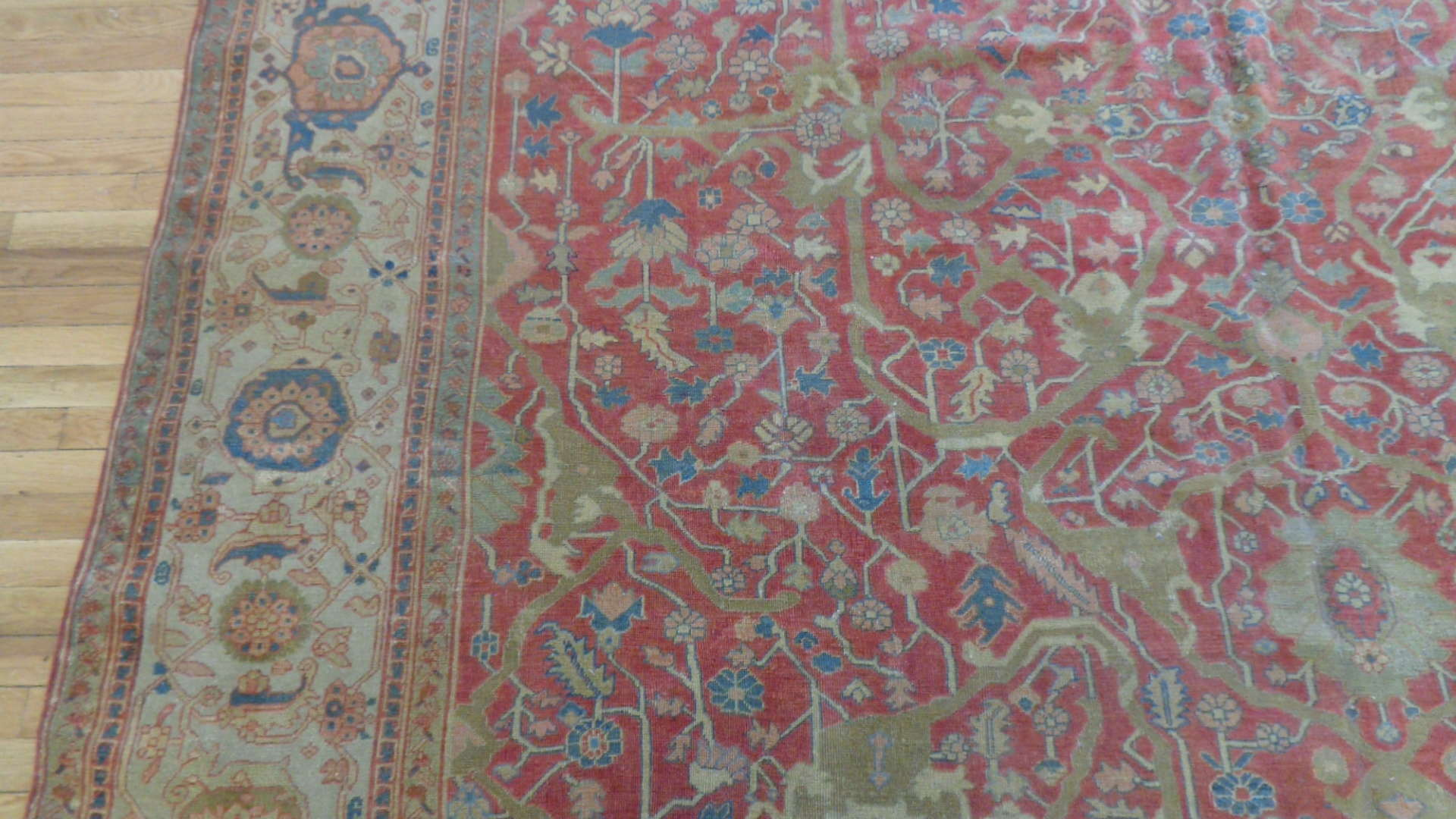 24745 antique persian serapi carpet 9.8x11.4-2