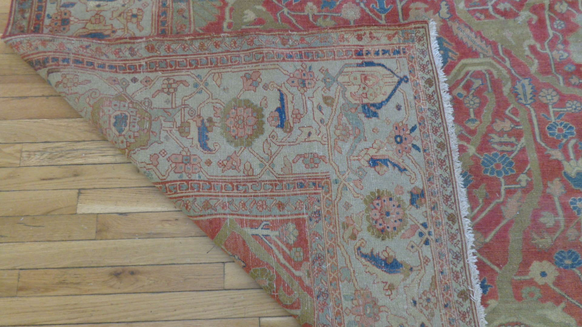 24745 antique persian serapi carpet 9.8x11.4-3