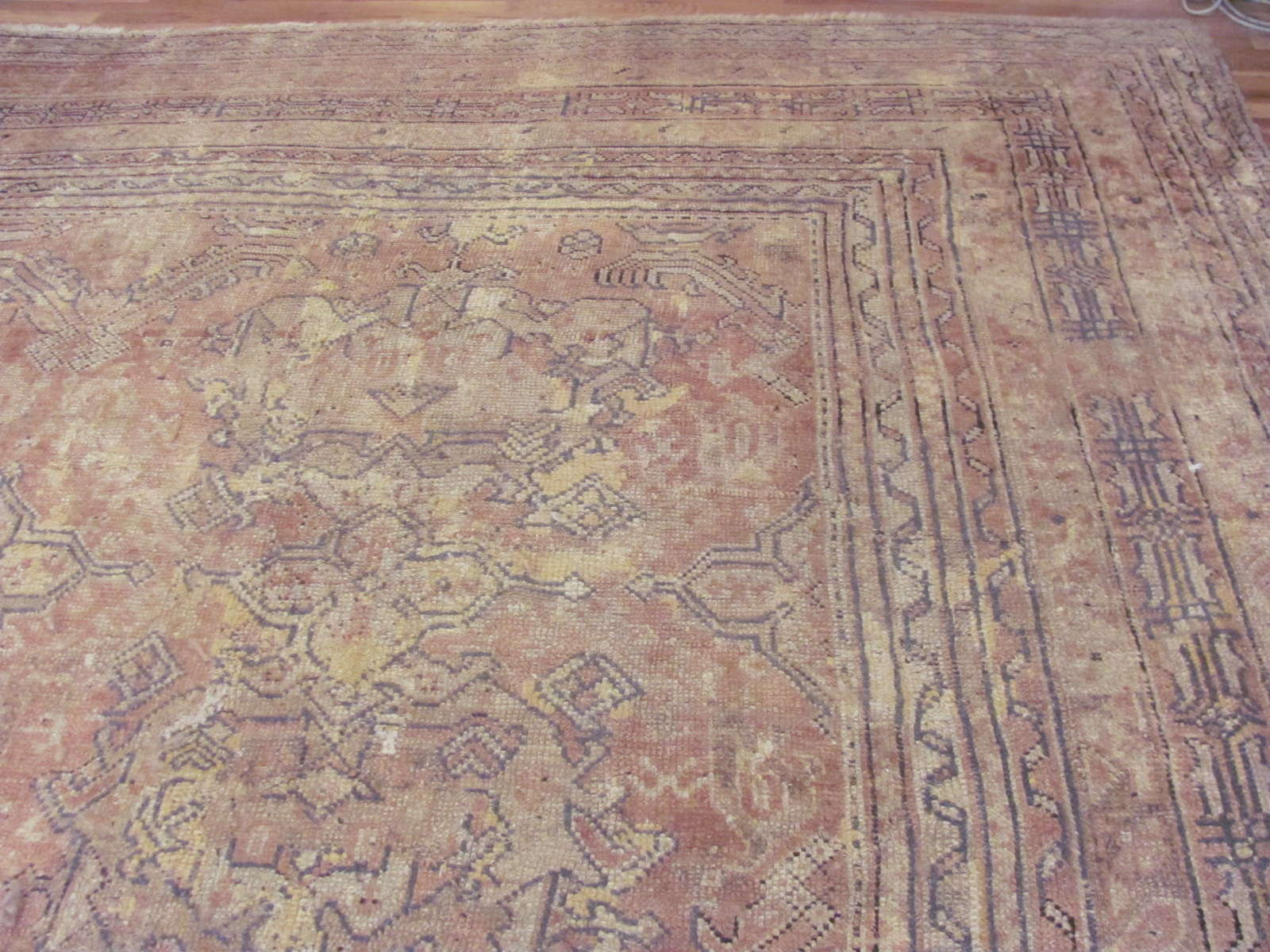 24783 Turkish Oushak carpet 16,7 x 18,7-1