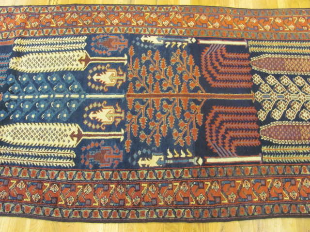 24786 antique persian kurdish runner 3,6 x 12,6-2