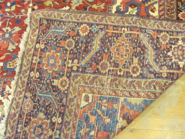 24801 semi antique persian heriz carpet 11,2x15,5-1