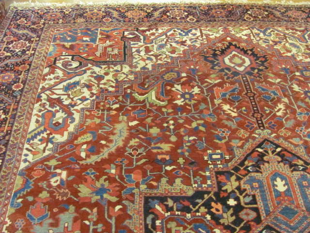 24801 semi antique persian heriz carpet 11,2x15,5-2