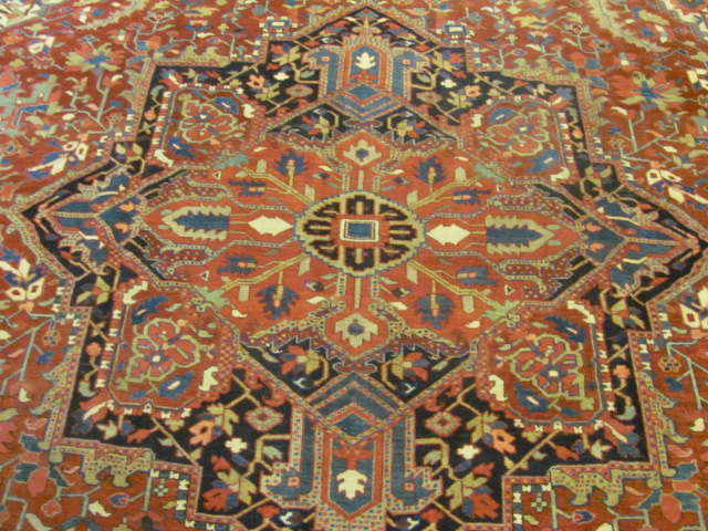 24801 semi antique persian heriz carpet 11,2x15,5-3