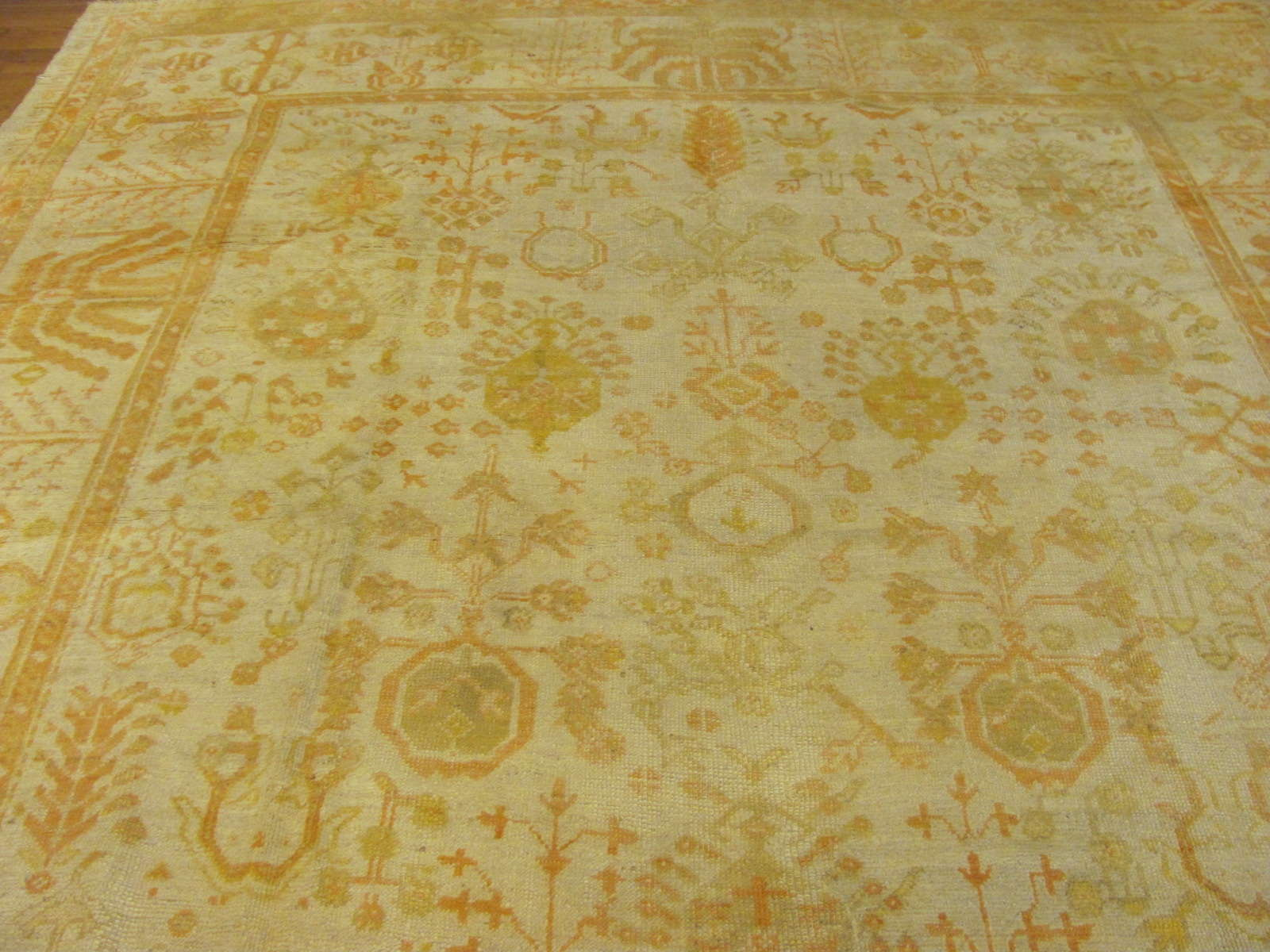 24813 antique anatolian turkish oushak 9,3x13,10-1