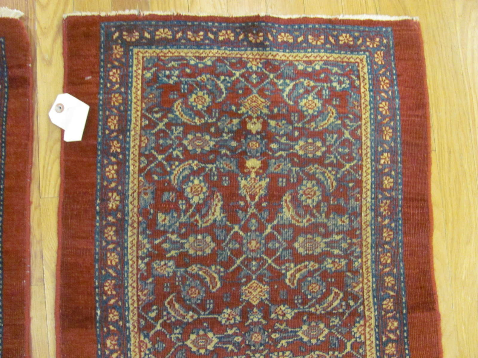 24831 a pair of antique persian mahal rugs 2 x 3 each-1