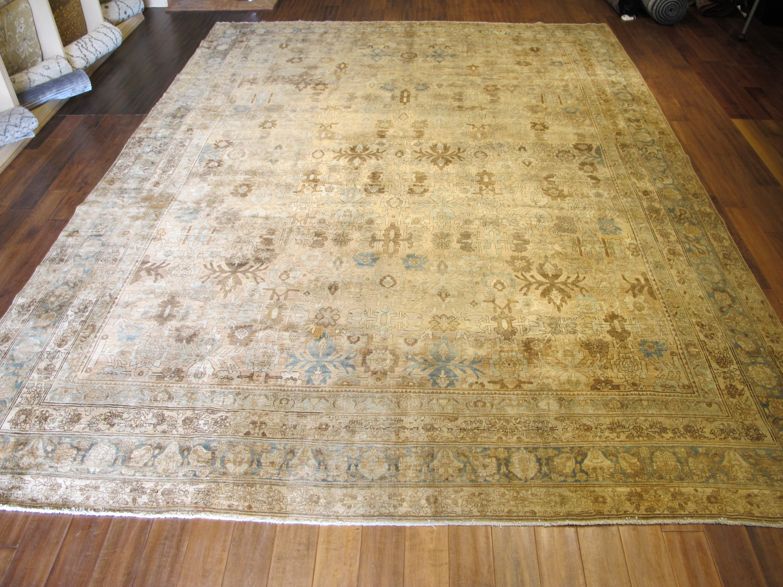 24838 antique Persian Bidjar rug 10,2 x 13,7 (1)