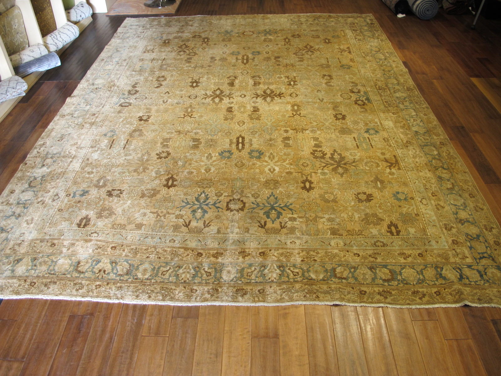 24838 antique Persian Bidjar rug 10,2 x 13,7 (4)