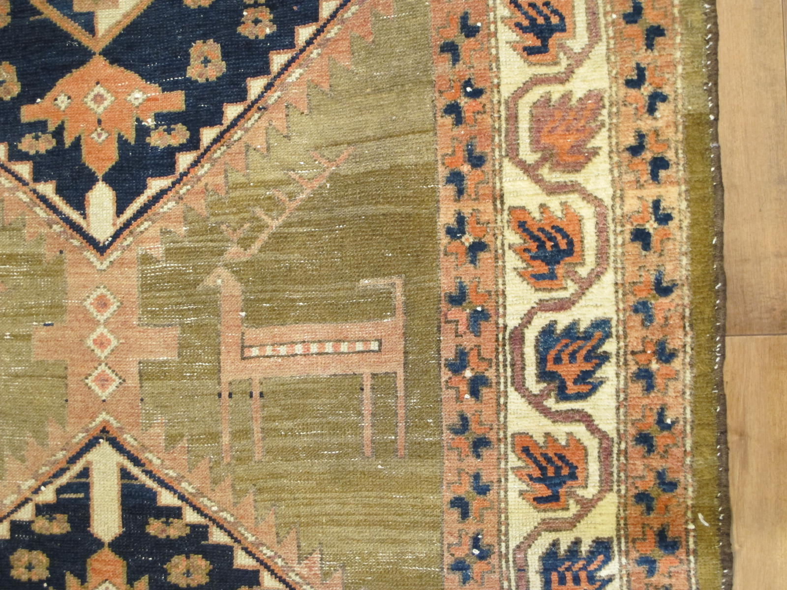23099 antique persian kurdish rug 4,6 x 14 (3)
