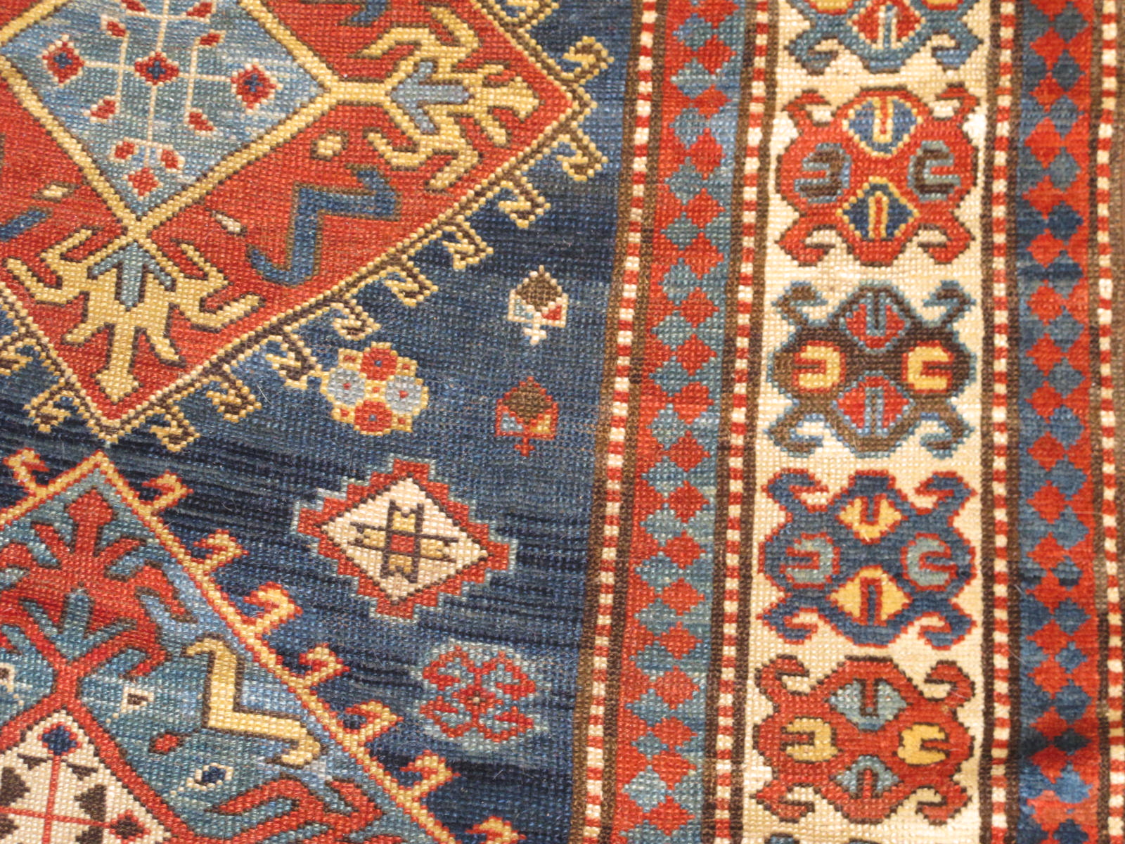 23186 antique caucasian genje rug 3,11x6,5 (3)