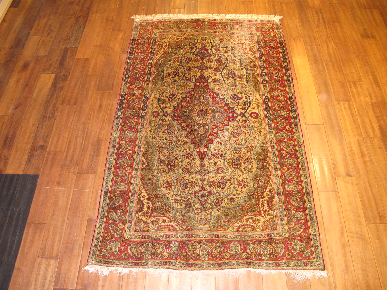 Kashan Mohtasham Rug | Silk | Antique ~1900