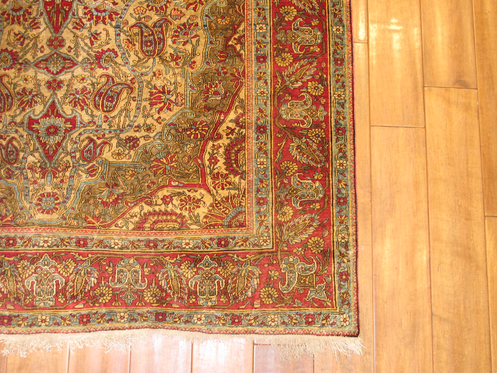 23206 antique persian kashan mohtasham silk rug 4,4 x 7,4 (4)