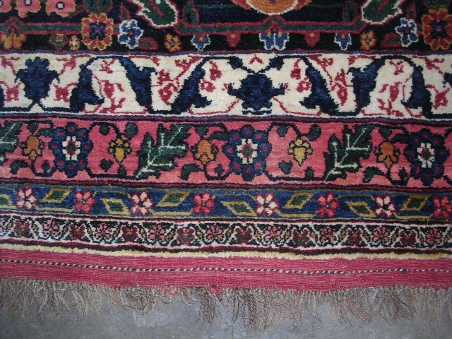 23657 antique persian bidjar rug 15,6 x 26 (2)