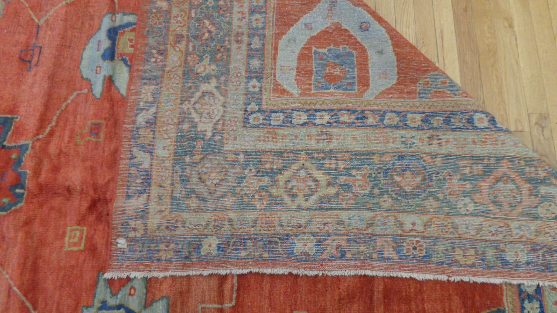 24846 antique persian Mahal rug 8,10 x 11,6-3