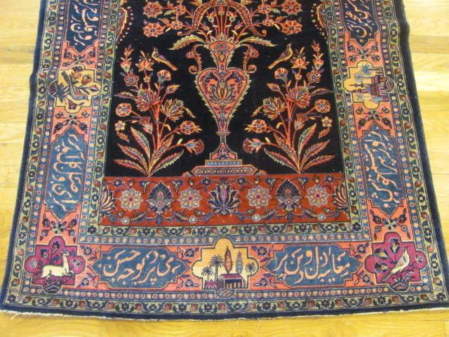 24852 antique persian kashan rug 3,4 x 5-2