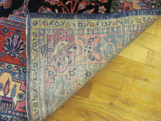 24852 antique persian kashan rug 3,4 x 5-3