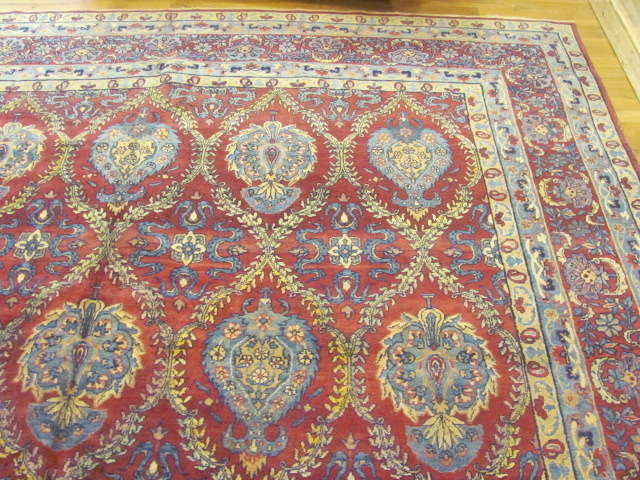 24865 antique persian kirman carpet 9,7x23,8-1